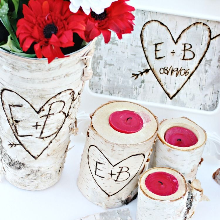 Sentimental Wedding Gift Ideas: Romantic Carved Initials Gift