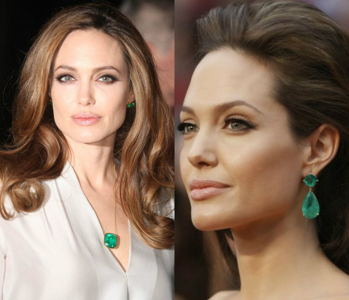 Angelina Jolie Green Emerald Earrings All About Collections