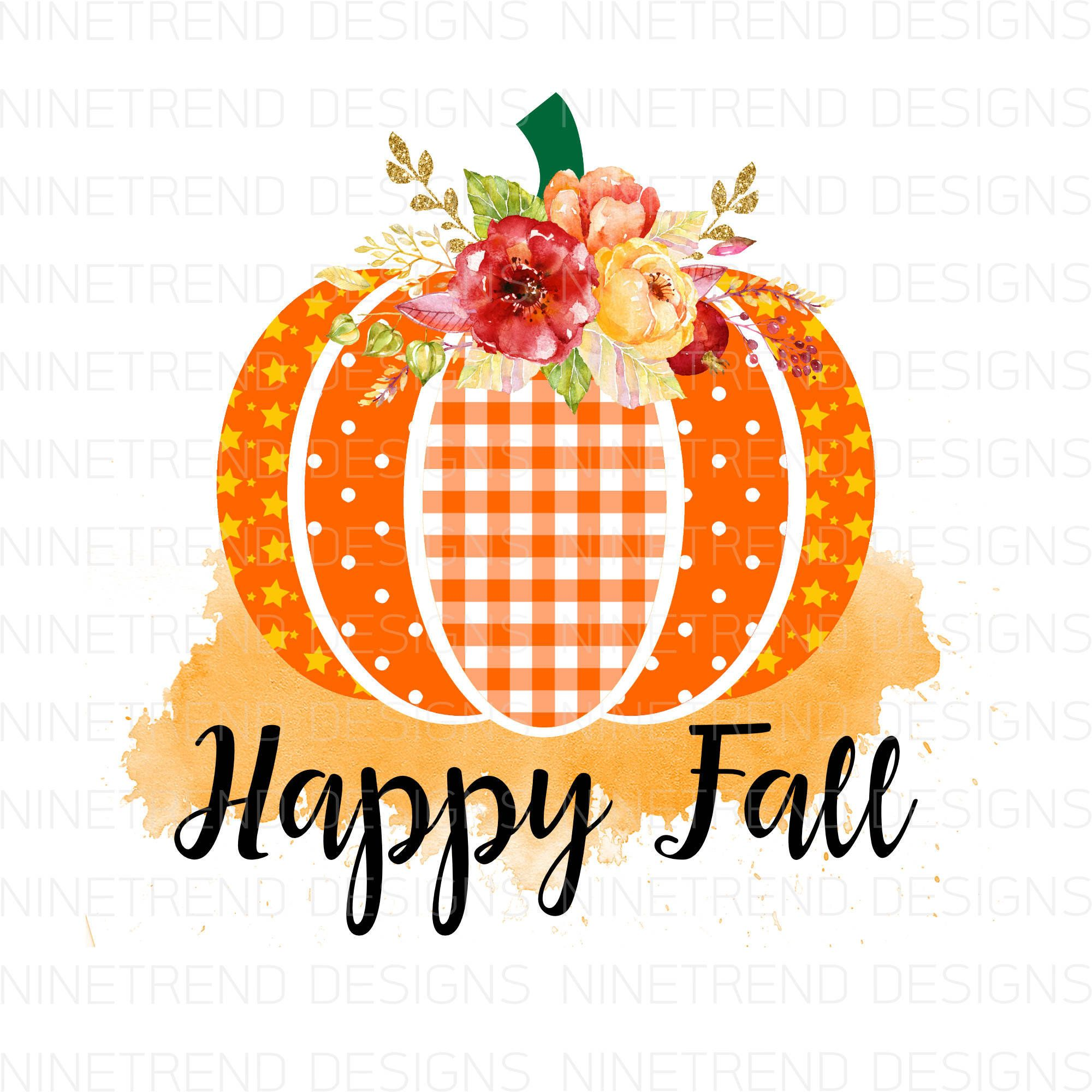 Happy Fall Pngfall Sublimation Designs Downloadspumpkin Png Etsy In 2021 Happy Fall Happy Thanksgiving Wallpaper Fall Wallpaper