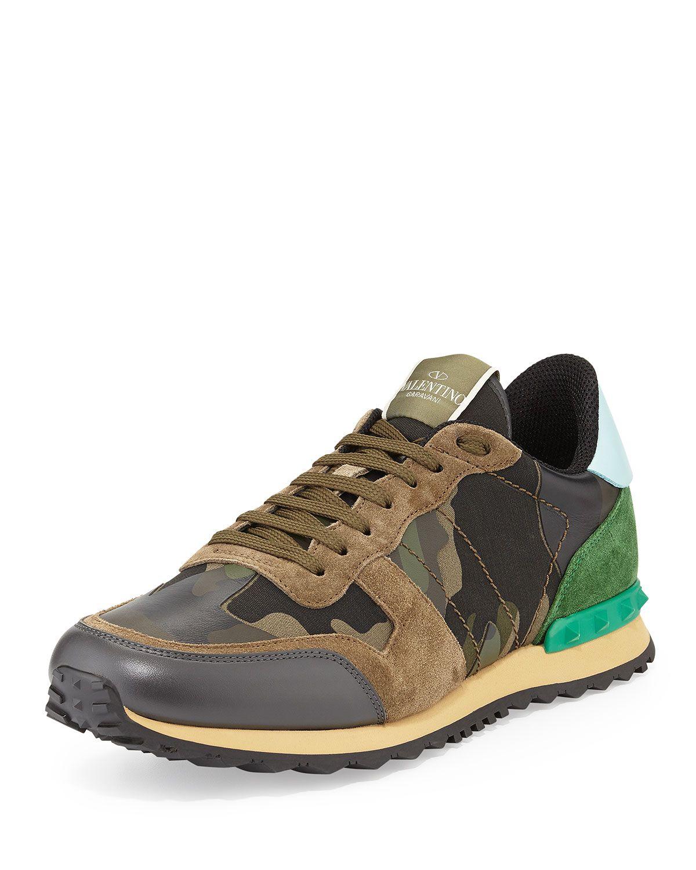 261e858525 Rockstud Camo-Print Sneaker