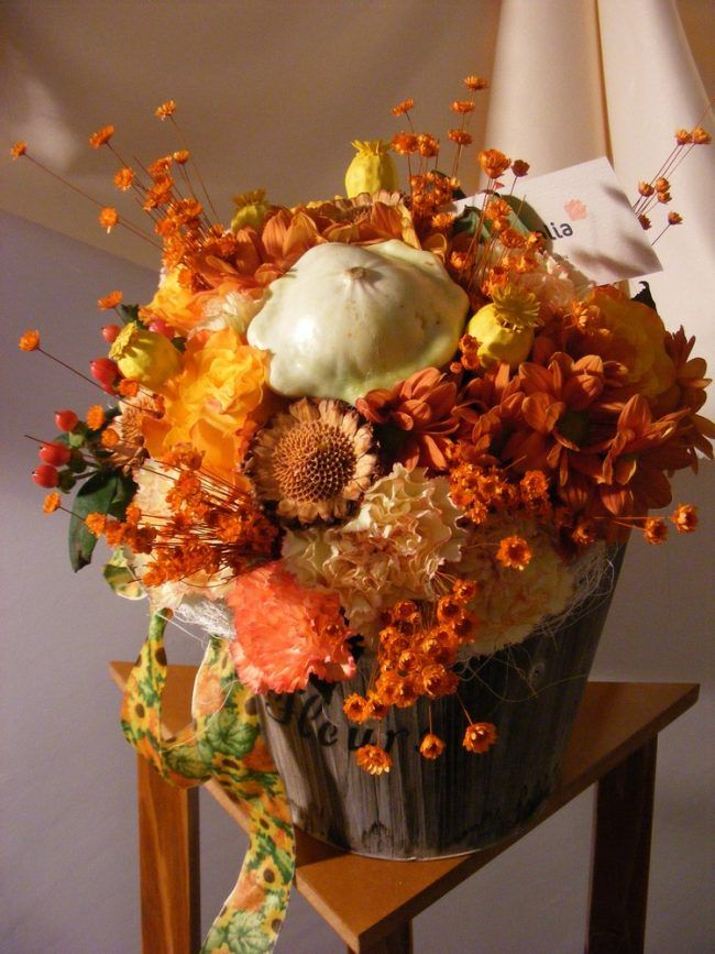 Herbstdeko Ideen Herbstblumen Arrangement Chrysanthemen