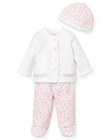 09a498bec Little Me Newborn Girls' Sweet Floral Take Me Home 3 Piece Set - Sizes 0-9  Months | Bloomingdale's