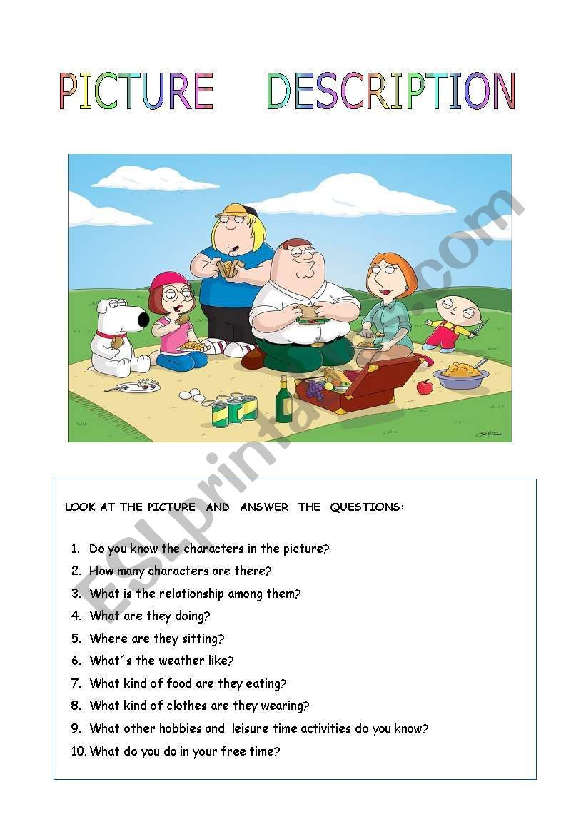 Family Picnic Worksheet Kindergarten Math Worksheets Addition Picture Comprehension English Lessons For Kids [ 1169 x 821 Pixel ]