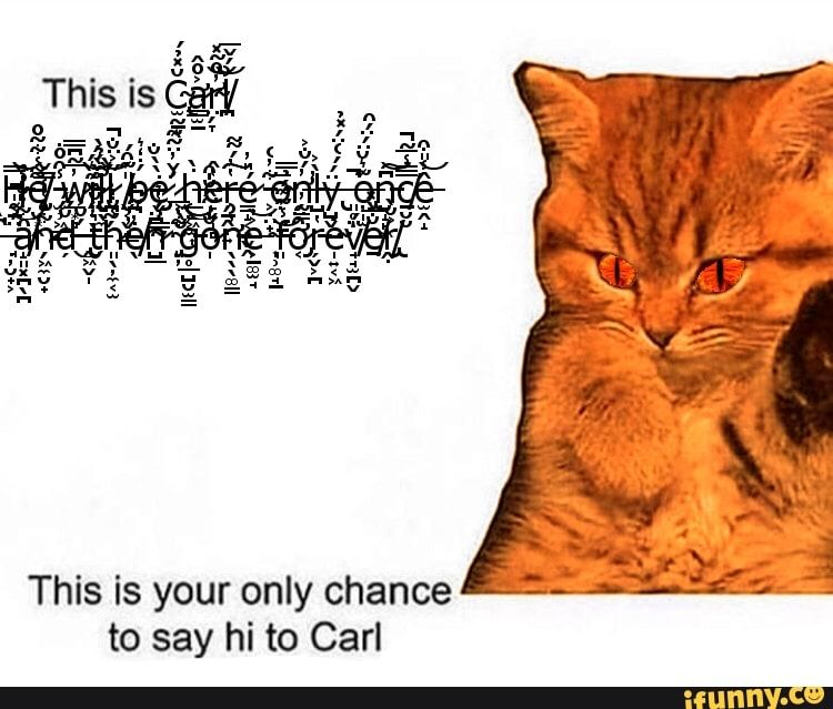 This Is Your Only Chance To Say Hi To Carl Ifunny Say Hi Sayings Memes