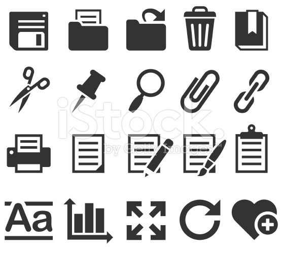 Office and Software application internet computer icons