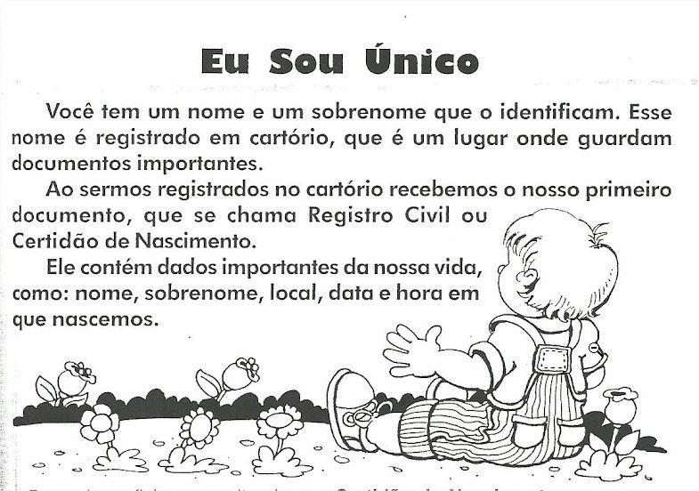 Projeto Identidade Para Educacao Infantil Com Imagens Projeto
