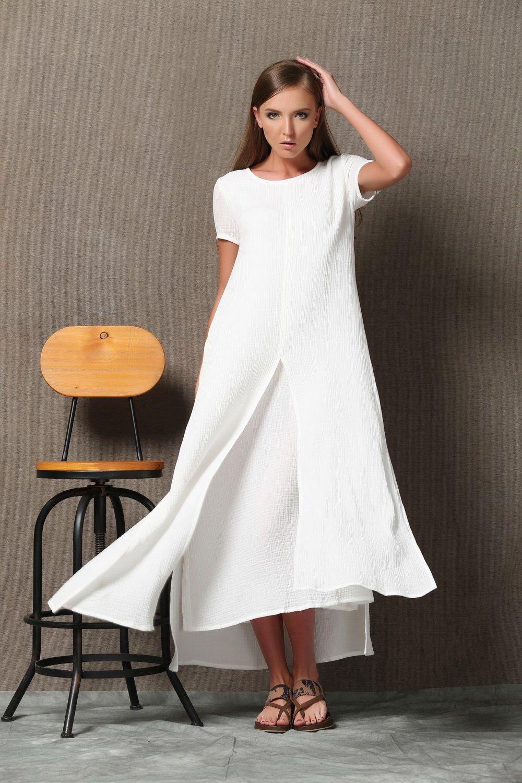 Plus Size Maxi Dress Linen Dress White Maxi Dress Womens Etsy Long Linen Dress White Maxi Dresses Plus Size Maxi Dresses [ 1500 x 1000 Pixel ]