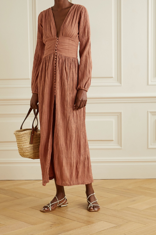 Brick Net Sustain The Oasis Crinkled Organic Cotton Gauze Maxi Dress Savannah Morrow The Label Gauze Maxi Dress Crinkled Maxi Dress Maxi Dress [ 3000 x 2000 Pixel ]