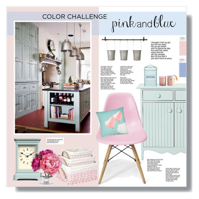 """""""// 858. Color Challenge: Pink and Blue."""" by lilymcenvy ❤ liked on Polyvore featuring interior, interiors, interior design, home, home decor, interior decorating, Inmod Signature, Kitchen Craft, M&Co and Newgate"""