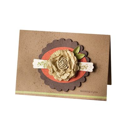 Flower made with waffle paper, Large Scallop Circle punch, Wide/XL Oval punch, Modern Label punch, Established Elegance