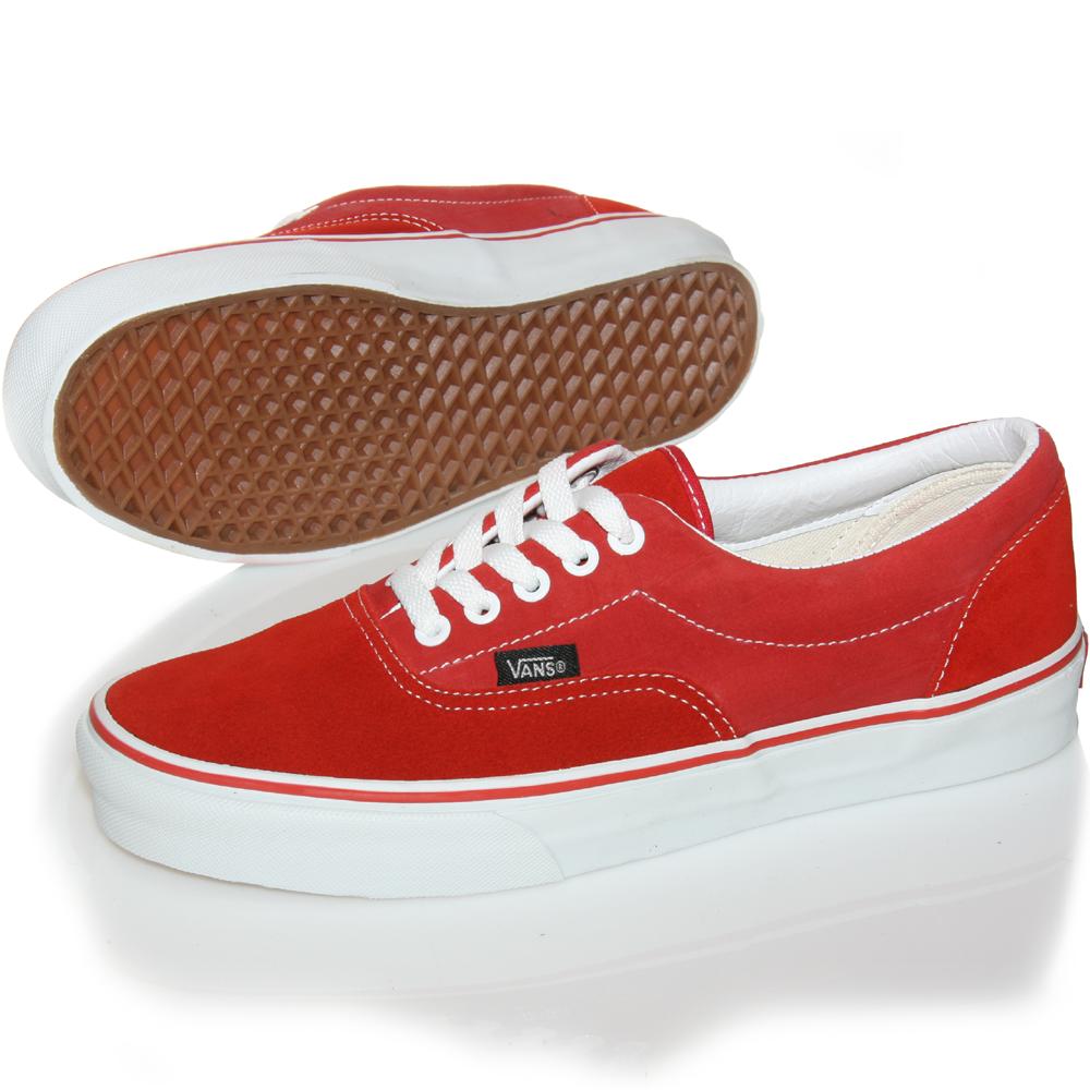 vans era shoes aurora red-white   Vans