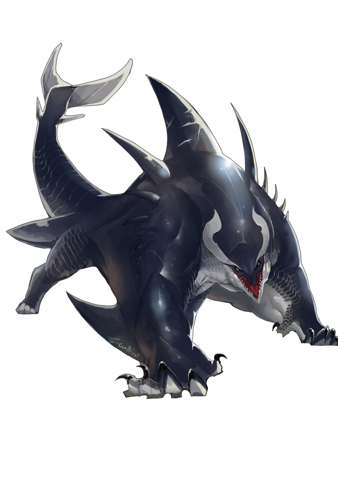 Shapeshifter Character Design : Akhlut beast chimerae shapeshifter huge when the