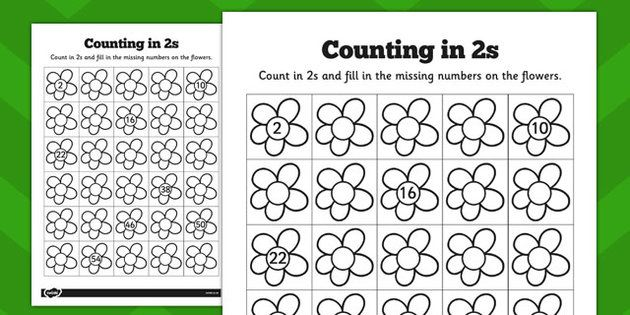 counting in 2s flowers worksheets math pinterest worksheets math and activities. Black Bedroom Furniture Sets. Home Design Ideas