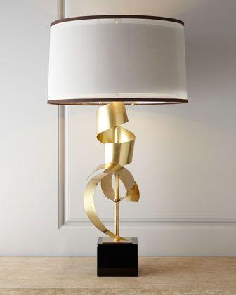 John Richard Collection Quot Brass Curls Quot Table Lamp Brass