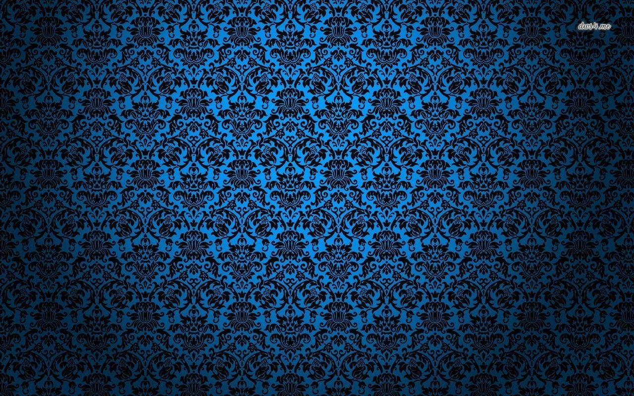 Blue vintage pattern HD wallpaper Planos de fundo