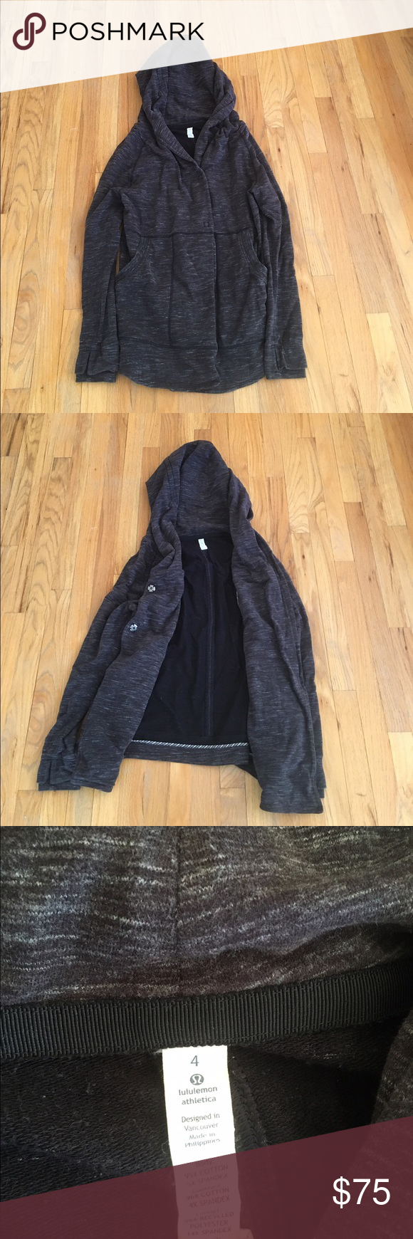 Lululemon Jacket size 4 Awesome jacket size 4.  Excellent condition.  Perfect for fall.  Has a hood lululemon athletica Jackets & Coats