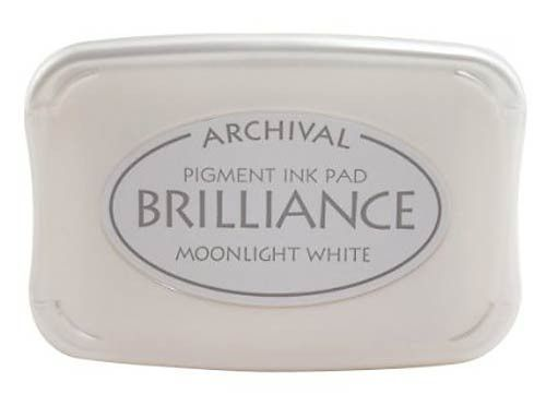 Pigment Ink Pad- Brilliance Moonlight White