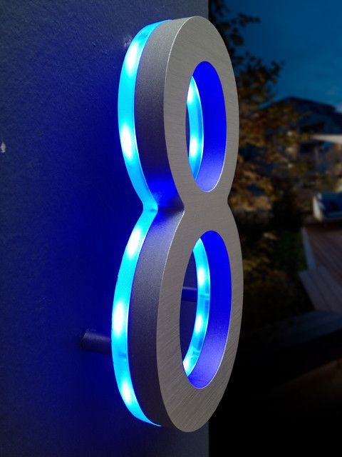 Rope Light Behind The Number Awesome Led House Numbers