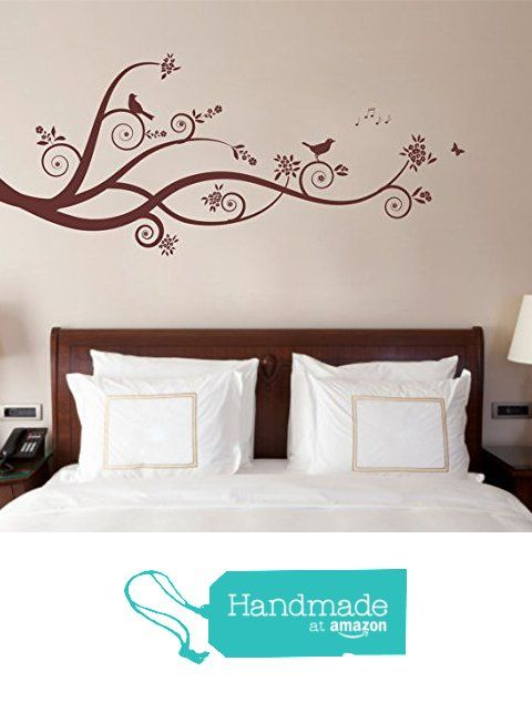 large tree design branches birds matt vinyl wall art sticker
