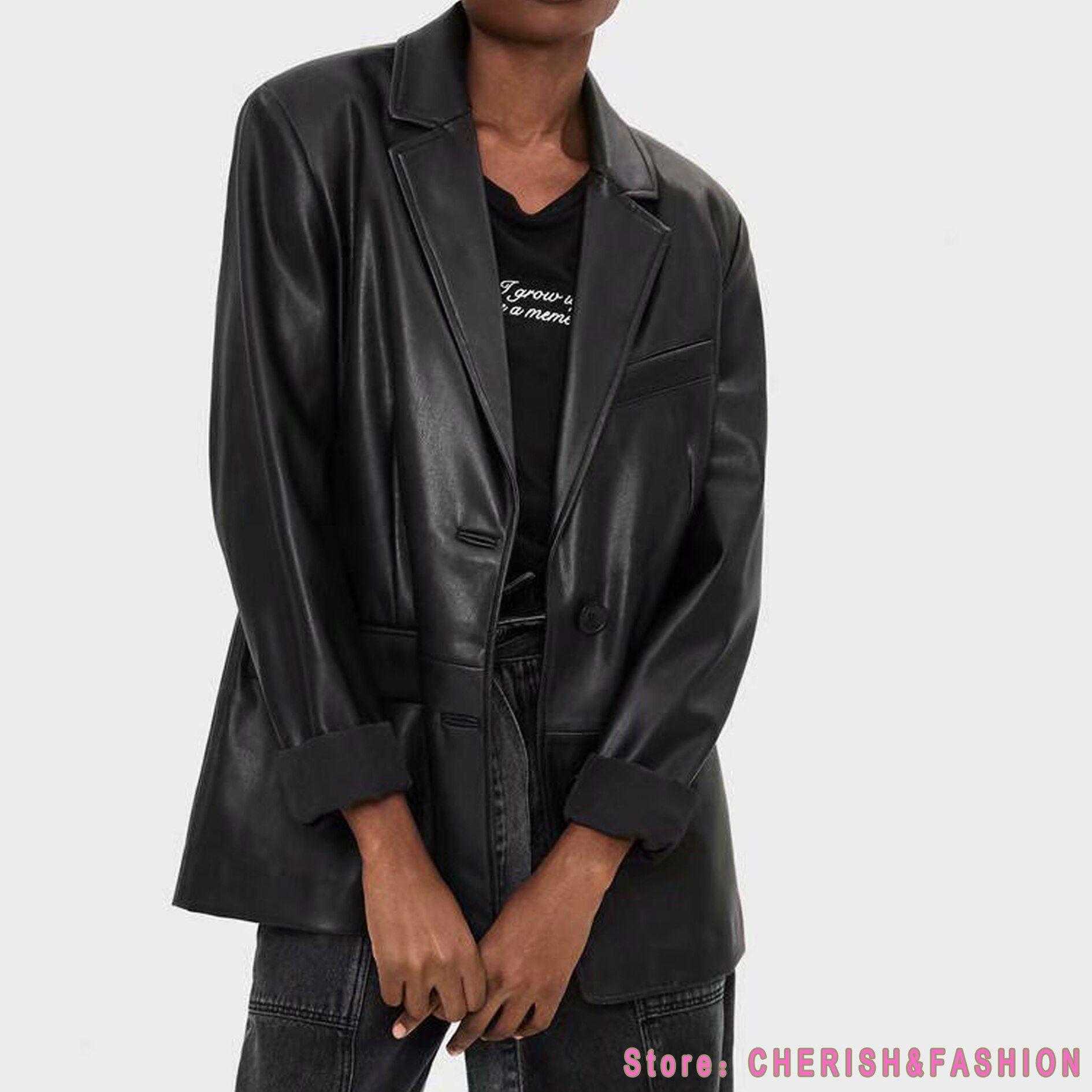 Loose Pu Faux Leather Blazers Women Leather Jacket Coat 2021 New Women S Jackets Outerwear Ladies Coa In 2021 Leather Blazer Women Leather Jackets Women Leather Blazer [ 1890 x 1890 Pixel ]