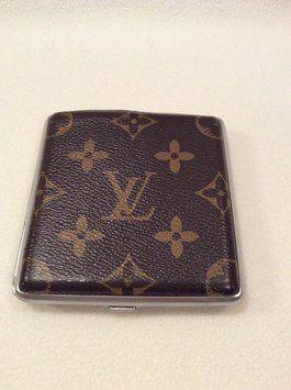 on sale 4c3bc d78ab Vintage LV Metal Monogram Cigarette Case or Card Wallet. Get the ...