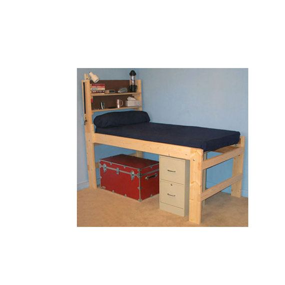 Solid Wood All Sizes High Riser Bed 1000 Lbs Wt By Elitedecorecom