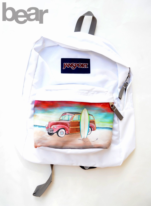 036d332c17ed Custom Hand Painted JanSport Backpack - Sunset
