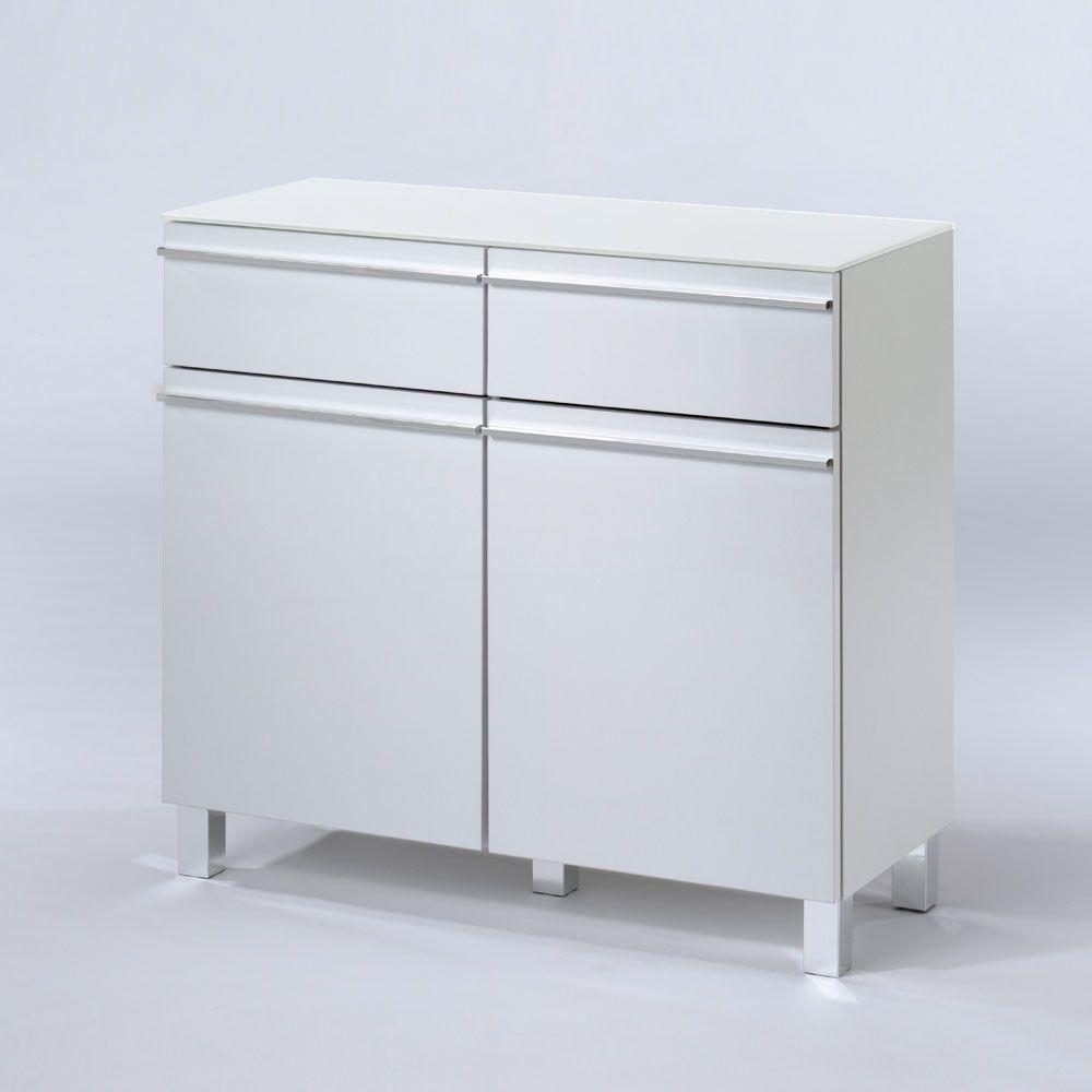 Attraktiv Hochglanz Sideboard Referenz Von Badezimmer In Weiß 80 Cm Jetzt Bestellen