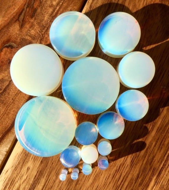"""PAIR Organic Rose Carved Opalite Stone Ear Plugs 2G to 9//16/"""""""