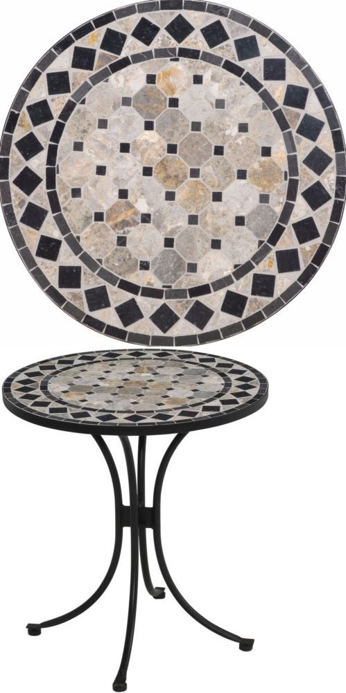 Tables 112590: Contemporary Marble Tile Top Bistro Table Patio Outdoor  Dining Table Furniture  U003e
