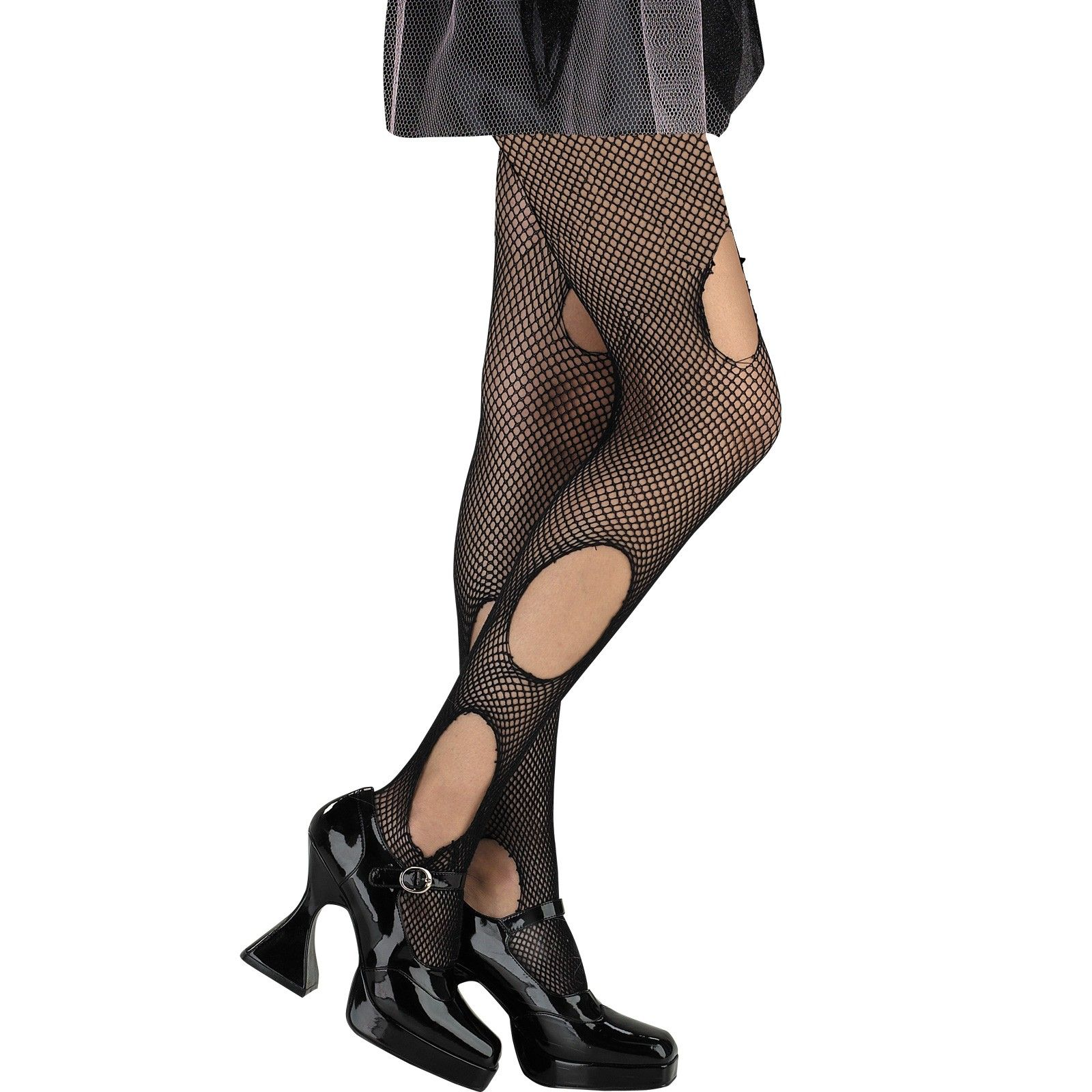 Black Torn Stockings Costume Accessory Tights