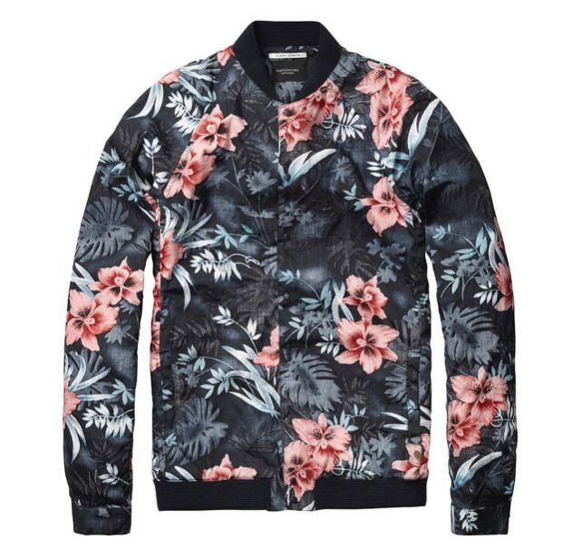 Scotch & Soda Flower Bomber Shirt