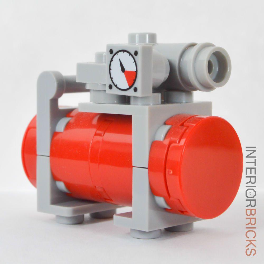 Lego Furniture Garage Air Compressor Custom Set W Instructions