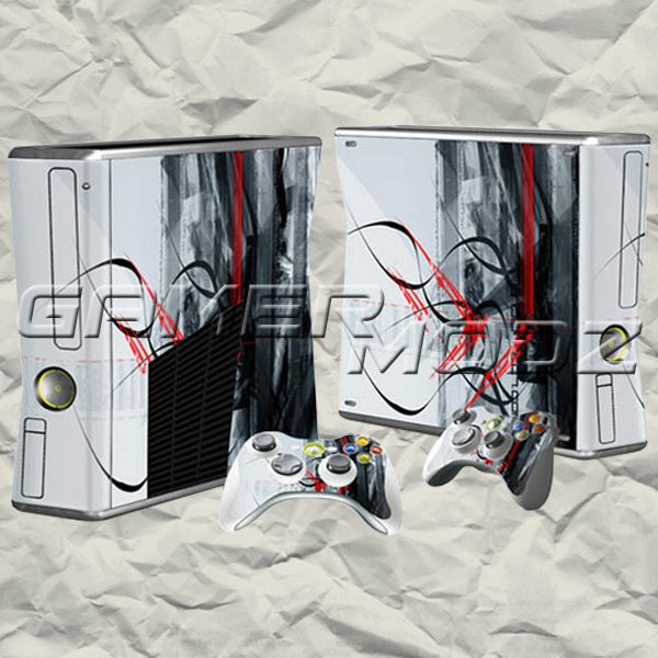 Red Stripe XBOX 360 Skin Set - Console with 2 Controllers