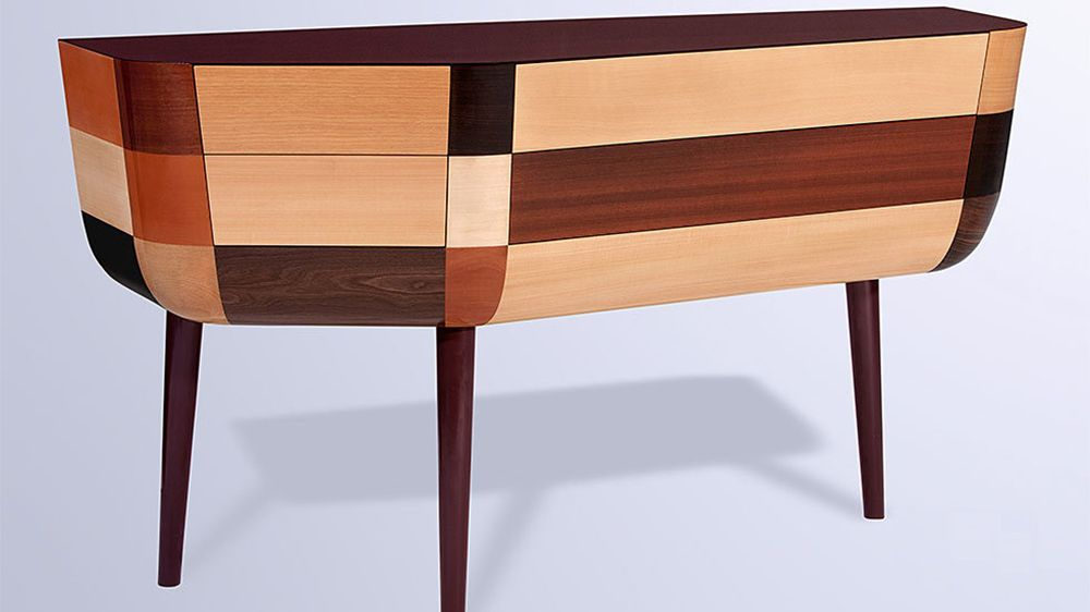 Le come-back de la marqueterie Marquetry, Teak and Woods
