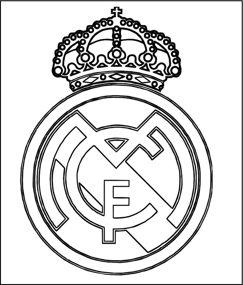 Real Madrid Logo Coloring And Activity Page Clip Art Stensil