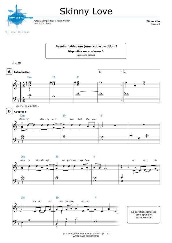 Partition Piano Facile Avec Note Partition Piano Facile Partition Piano Partitions De Piano