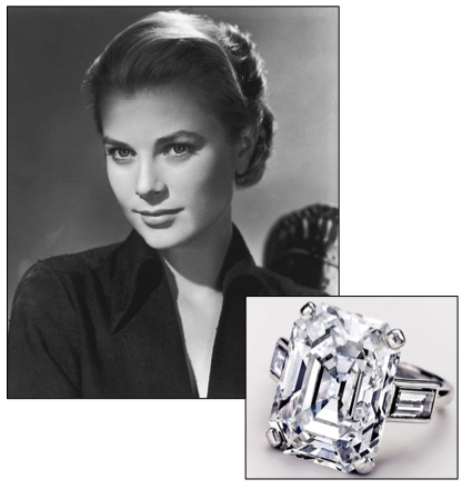 Grace Kellyu0027s 1956 Wedding To Prince Ranier Of Monaco Was The Event Of The  Year, He Presented Her With This Stunning Carat Emerald Cut Engagement Ring,  ...