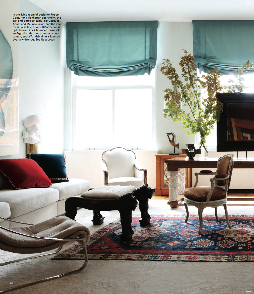 robert couturier and ron agam inspired | Elle decor, Soho loft and Soho
