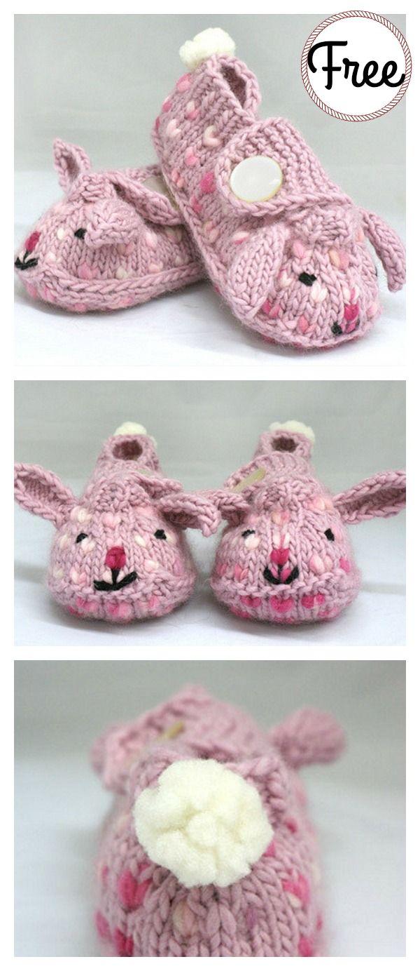Bunny Hop Thrummed Bunny Slippers Free Knitting Pattern My