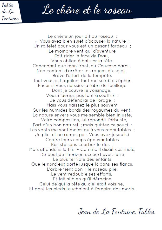 Fables - pdf Le chêne et le roseau - Rallye lecture en ...