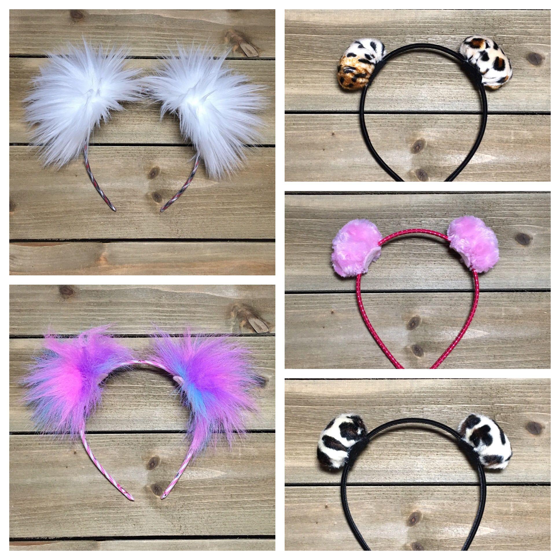 Pom Pom Headband  Furry Headband  Kids Furry Ears  Adult Furry Ears  Ear d1d7e3fc226