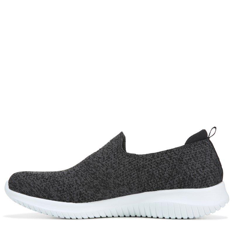 Skechers Women S Ultra Flex Slip On Sneakers Black White