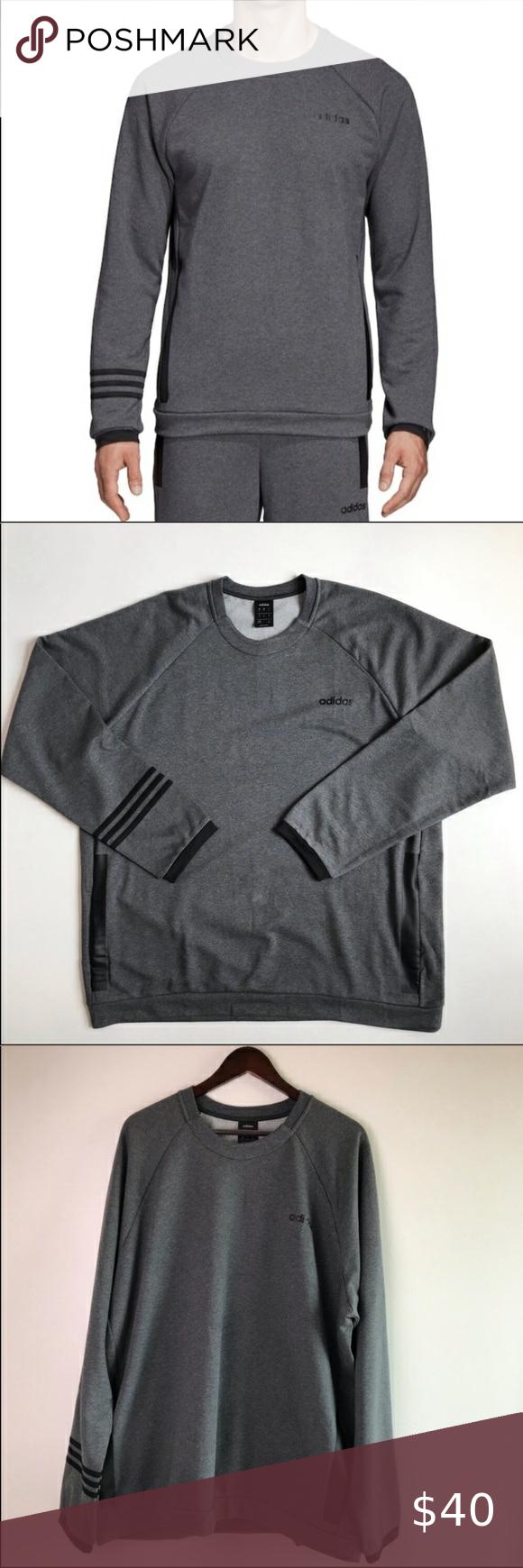 Adidas Climate Sweatshirt Three Stripes Adidas Sweatshirt Heather Gray Crewneck Long Sleeves Side Pockets Sweatshirts Adidas Sweatshirt Adidas Three Stripes [ 1740 x 580 Pixel ]