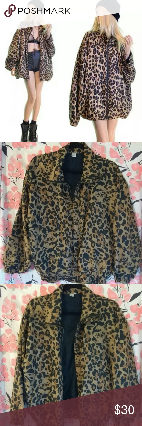 051ba2cfc Vintage FUDA Leopard Print Silk Bomber Jacket Vintage FUDA ...