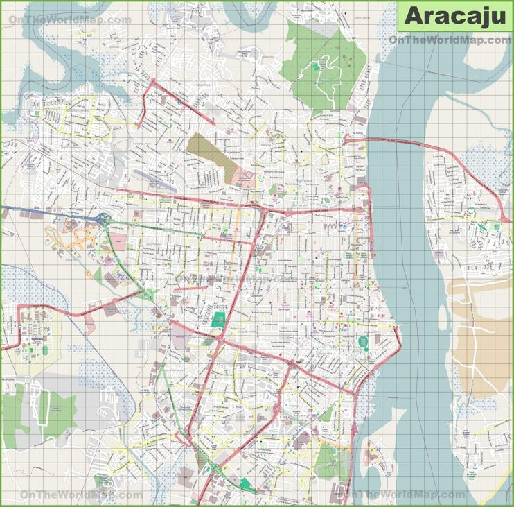 Large detailed map of Aracaju Maps Pinterest Brazil cities