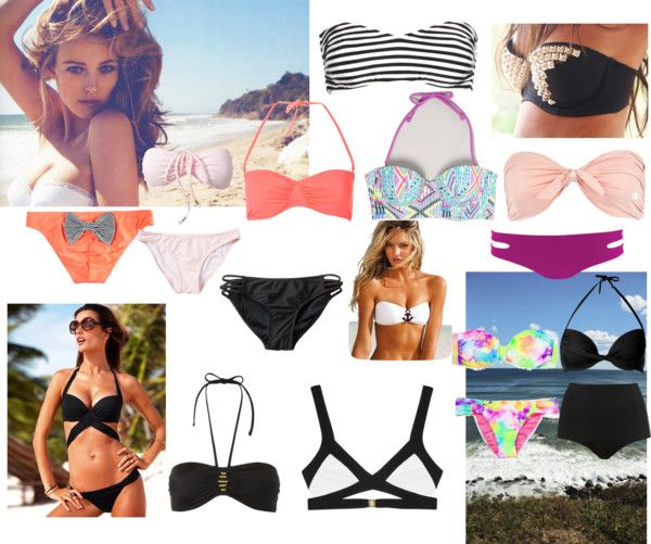 """""""Bathing Suit Shopping"""" by damselmel ❤ liked on Polyvore"""