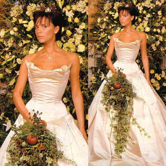 White Wedding Dress Victoria: Victoria Beckham's Vera Wang Dress — $100,000