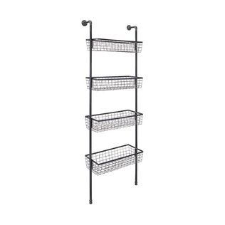Basket Ladder Wall Shelf With Images Baskets On Wall Basket Shelves Shelves