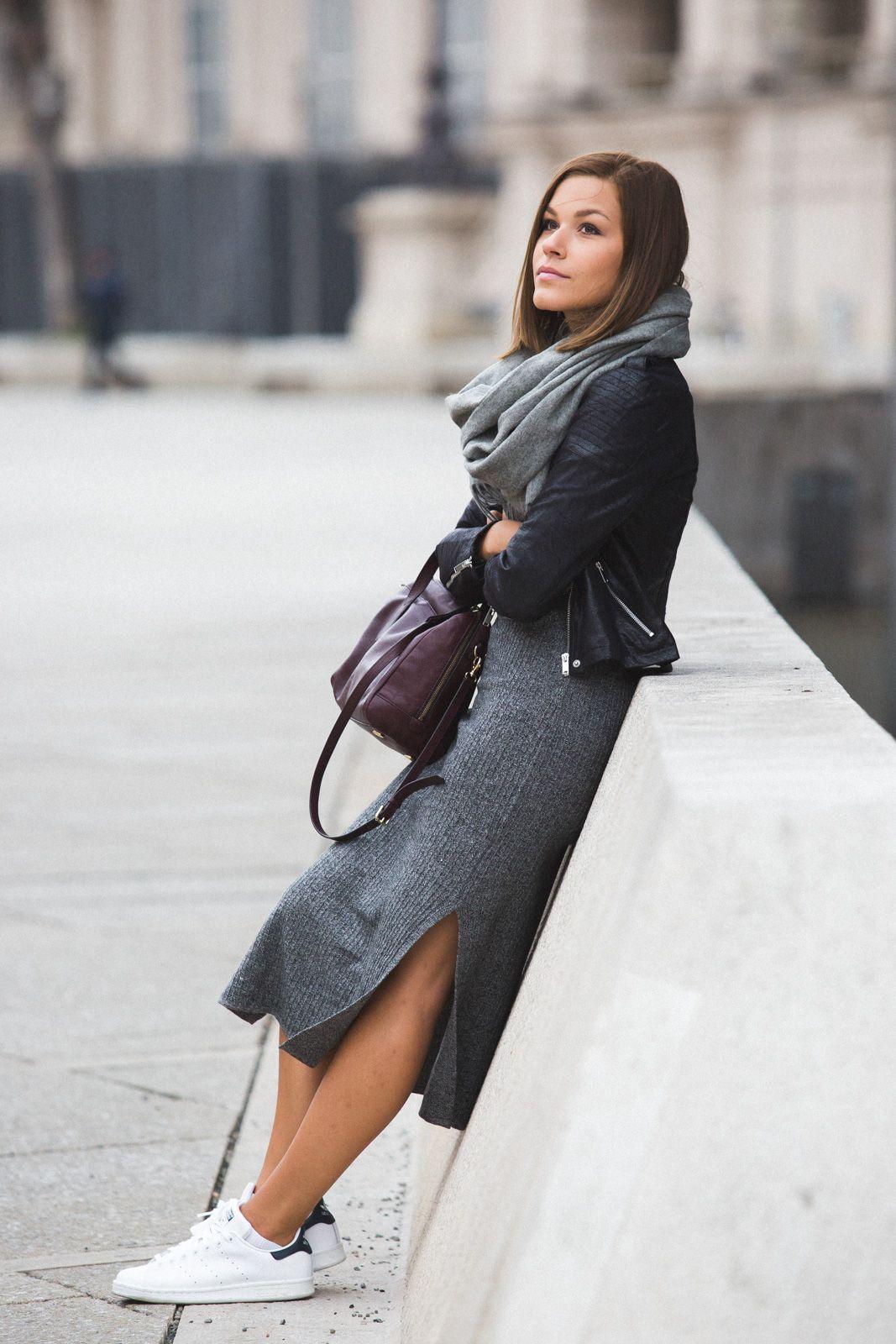 outfit grey in grey adidas schuhe kummer und lederjacken. Black Bedroom Furniture Sets. Home Design Ideas
